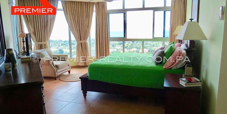 Master Bedroom with ocean & Golf view balcony
